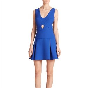 BCBGMAXIZRIA Electric Blue Cutout Dress